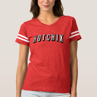 """""""Das HOTCHIX"""" der Frauen Fußball-T - Shirt (rot)"""