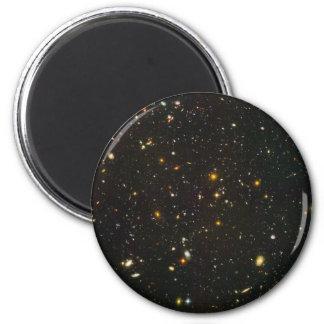Das Hubble ultra tiefe Feld Runder Magnet 5,1 Cm