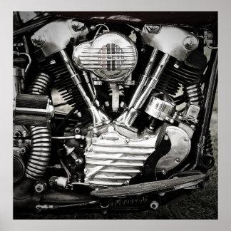 Das iconic Motorplakat Poster