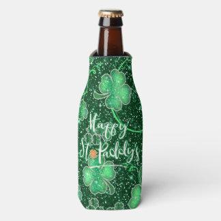 Das ID289 funkelnde Kleeblatt-glücklichen Flaschenkühler