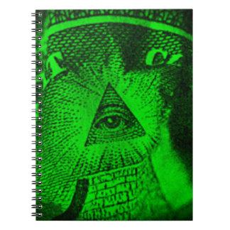 Das Illuminati Auge Notizblock