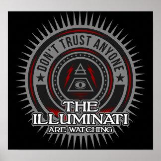 Das Illuminati passen vertrauen kein auf Poster