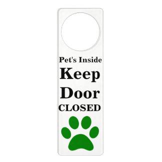 Das Innere des Haustieres behalten Tür Türanhänger