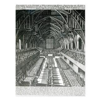 Das Innere von Westminster Hall Postkarte