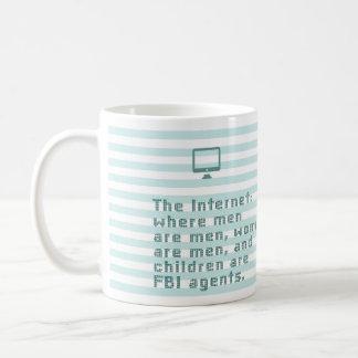 Das Internet, in dem Männer Männer sind, Frauen Kaffeetasse