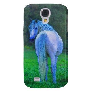 Das iPhone 3 der weißes Pferdpferdeartigen Galaxy S4 Hülle