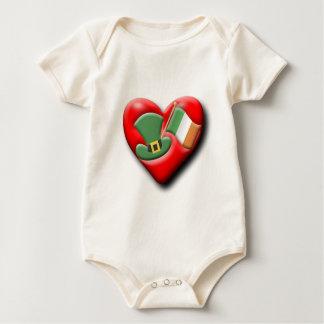 Das irische Herz Baby Strampler