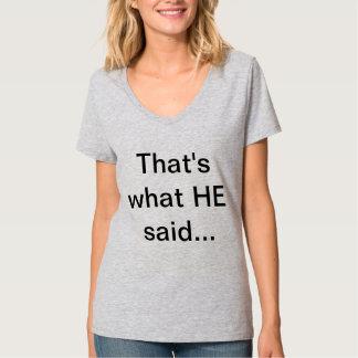 """""""Das ist, was ER sagte…"""" T-Stück durch ReadTLC Tshirt"""