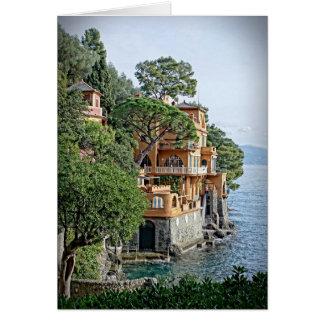 Das italienische Riviera - das Portofino, Karte