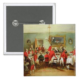 Das Jagd-Frühstück, der Hall des Junggesellen, 183 Quadratischer Button 5,1 Cm