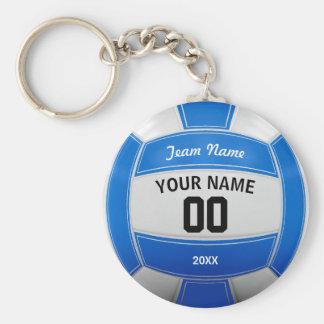 Das jahr-Team-Blau des Volleyball-Spielers Namens Standard Runder Schlüsselanhänger