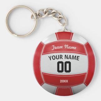 Das jahr-Team-Rot des Volleyball-Spielers Namens Standard Runder Schlüsselanhänger