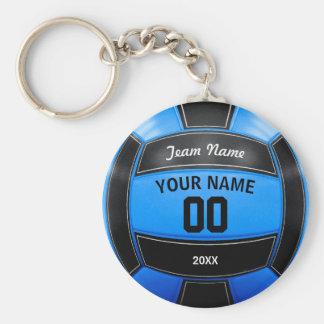 Das jahr-Team-Schwarz-Blau des Volleyball-Spielers Standard Runder Schlüsselanhänger