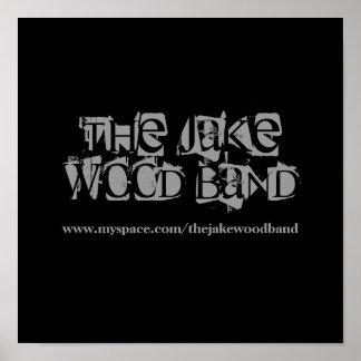 Das Jake hölzerne Band-Plakat Poster