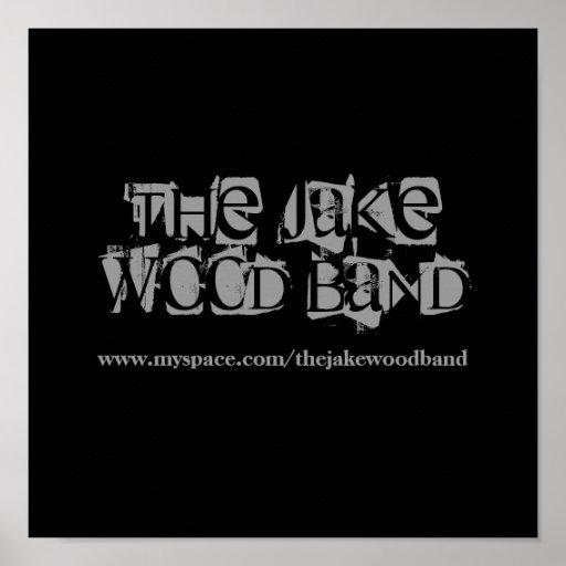 Das Jake hölzerne Band-Plakat