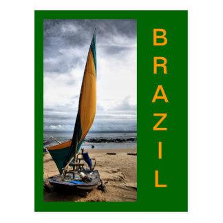 Das Jangadas von Brasilien Postkarte