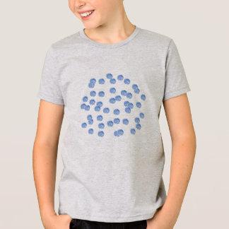 Das Jersey-T - Shirt der blaue Polka-Punkt-Kinder