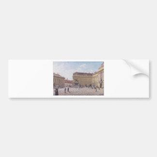 Das Josef-Quadrat in Wien durch Rudolf von Alt Autoaufkleber