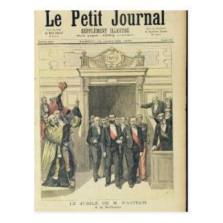 Das Jubiläum von Louis Pasteur beim Sorbonne Postkarte