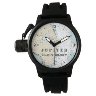 Das Jupiter FL der Seebreite-Länge-Kreissäge Armbanduhr