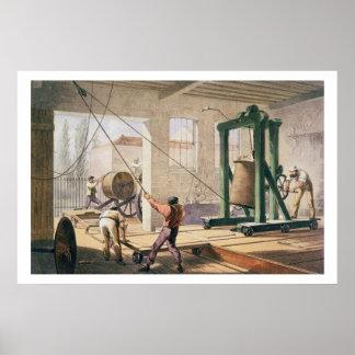 Das Kabel, 'vom atlantischen Telegraf vorbereiten Poster