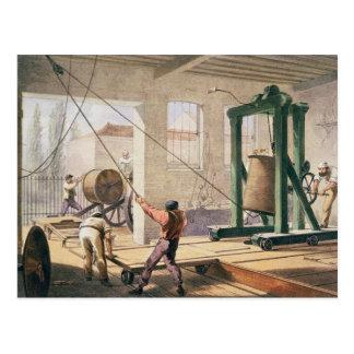 Das Kabel, 'vom atlantischen Telegraf vorbereiten Postkarten