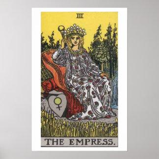 Das Kaiserin-Tarot-Karten-Plakat