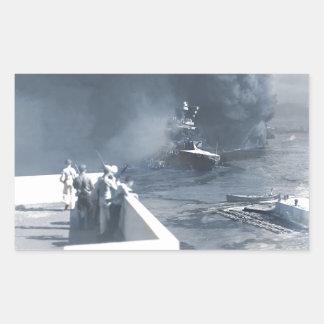 Das Kalifornien-Schiff im Schlamm Rechteckiger Aufkleber