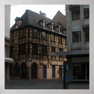 Das Kammerzell Haus Straßburg Frankreich Poster
