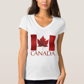 Das Kanada-T - Shirt-Flaggen-Shirts der Frauen T-Shirt