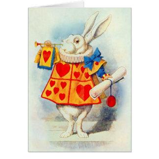 Das Kaninchen in Alice im Wunderland ~ Karte