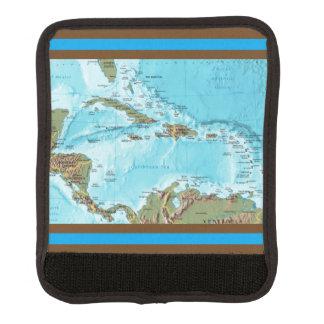 Das karibische (Karte) Gepäck Markierung