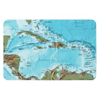 Das karibische (Karte) Magnet