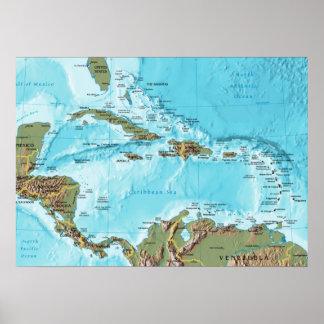 Das karibische (Karte) Poster