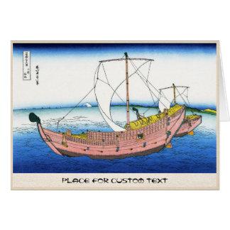 Das Kazusa Seeweg katsushika Hokusai Fuji Karte