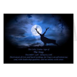 Das keltische Tierkreis-Zeichen des Hirsches Karte