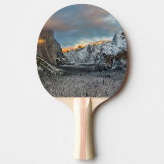 Das Kennzeichen des Winters Tischtennis Schläger