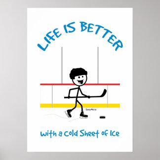 Das KinderCartoon-Hockey-Leben ist- besseres Poster