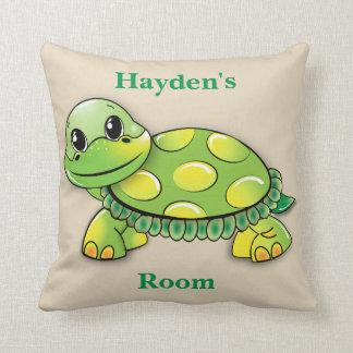 Das Kissen-niedliches Baby-Schildkröte-Lächeln des Kissen