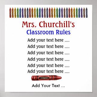 Das Klassenzimmer-Regeln des Schullehrers durch S Posterdruck