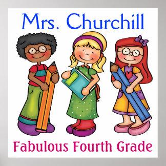 Das Klassenzimmer-Willkommen des Schullehrers - Plakat