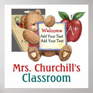 Das Klassenzimmer-Willkommen des Schullehrers - SR Plakatdruck