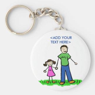 Das kleine Mädchen Keychain des Vatis (brünett) Schlüsselanhänger