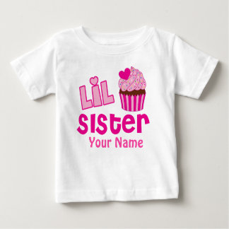 Das kleine Schwester-Rosa-Kuchen-Zusammenbringen Baby T-shirt