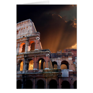 Das Kolosseum von altem Rom Karte