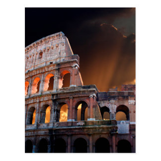 Das Kolosseum von altem Rom Postkarte