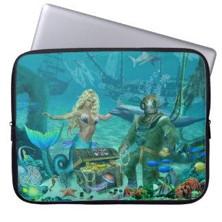 Das Korallenriff-Schatz der Meerjungfrau Laptop Sleeve