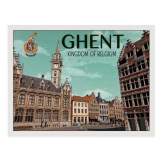Das Korenmarkt - das Gent Postkarte