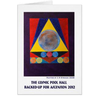Das kosmische Pool Hall Stark beansprucht-Oben für Karte