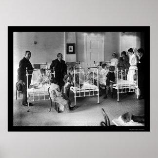 Das Krankenhaus der Kinder in New York 1920 Poster